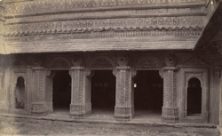 West façade of the first court of the Man Mandir Palace, Gwalior
